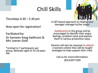 Chill Skills – Managing Anger for 14 – 16 Year Olds