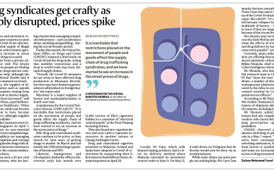 """Straits Times Interview: """"Drug Syndicates Get Crafty As Supply Disrupted, Prices Spike"""""""